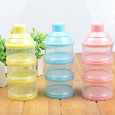 Baby Milk Powder Formula Dispenser Feeding Case Box Food Container 3 Layers