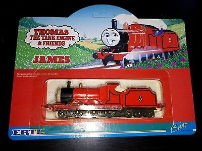 ERTL THOMAS THE TANK ENGINE FRIENDS JAMES C1993 1092 CARDED