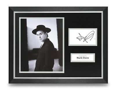 Mark Owen Signed 16x12 Framed Photo Display Take That Autograph Memorabilia +COA