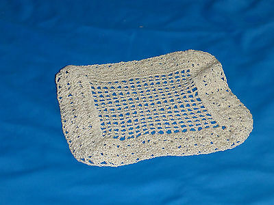 Vintage Square Delicate Detailed Handmade Doily Doilies Antique Retro