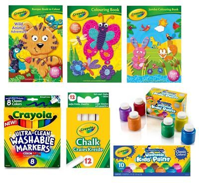 Crayola pens paints washable metallic colouring book gifts stocking fillers