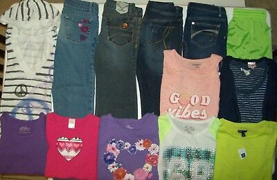 Girls Spring clothes lot size 10 Girls jeans lot size 10 Justice Gymboree Gap