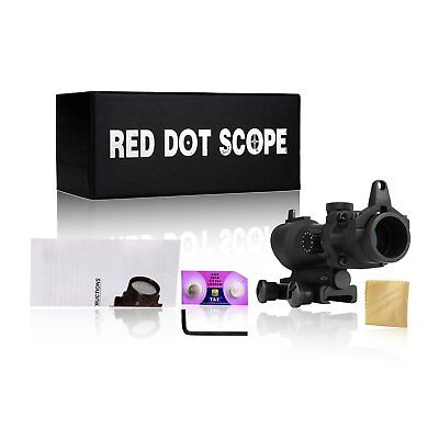 1x32 Tactical ACOG Illumination Red/Green Dot Sight Scope Airsoft Hunting DE