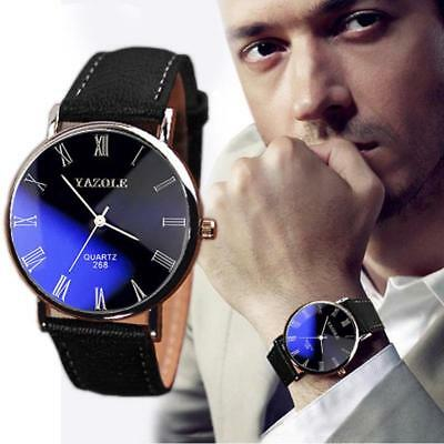 2018 Fashion Men Watch Luxury Leather Mens Business Wrist Watches For Men's New