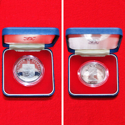 1978 Guernsey Royal Visit 25 Pence Commemorative.925 Sterling Silver Proof Crown