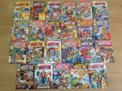 Job Lot x 23 Fantastic Four Marvel UK Comics inc #1 1970's - Good Condition