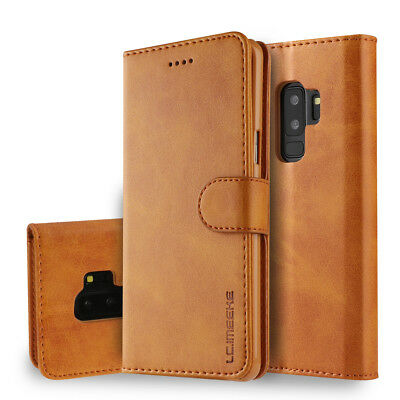 For Samsung Galaxy S10 S9+ Plus Leather Phone Case Stand Wallet Shockproof Cover