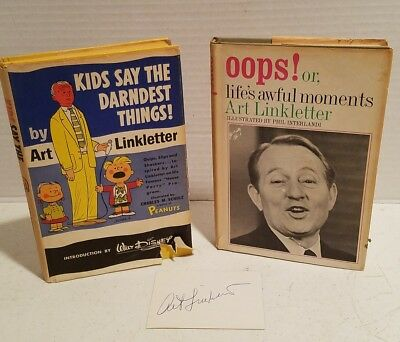 1957 & 1967 Art Linkletter Books With Autographed Card