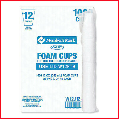 [No Tax] Dart Hot and Cold Foam Cups, 8 oz. (1,000 ct.)