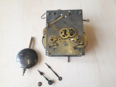 HAC 8 Day striking clock movement with hands and pendulum
