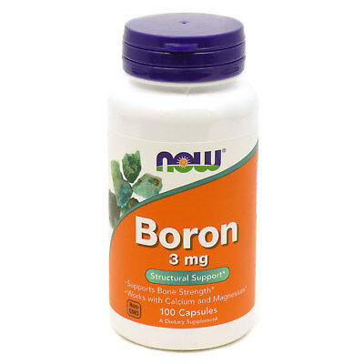 Boron 3mg By Now Foods - 100 Capsules