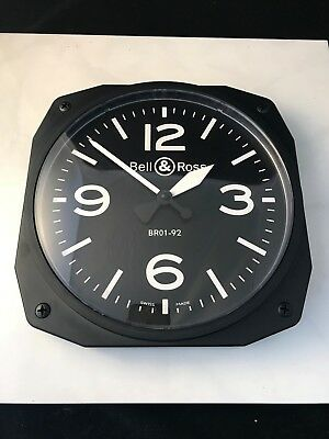 Bell & Ross 01-92 Dealer Only Wall Clock- Brand New and Authentic