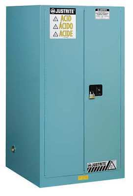 JUSTRITE 899022 Corrosive Safety Cabinet, Blue, 65 In. H