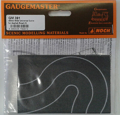 N 40mm Wide Self Adhesive Tarmac Curves (2) – Gaugemaster GM391 – F1