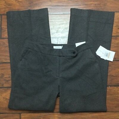 """Calvin Klein Classic Fit Dress Pants Size 4 Womens Gray Charcoal Lined 33""""Inseam"""
