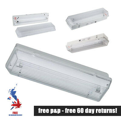 8W Non Maintained Emergency Luminaire Light Bulkhead IP65 - JBS ZE83ICEL Zeta II