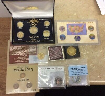 Lot Of Collectible & Commemorative Sets & Single Coins See Pics!