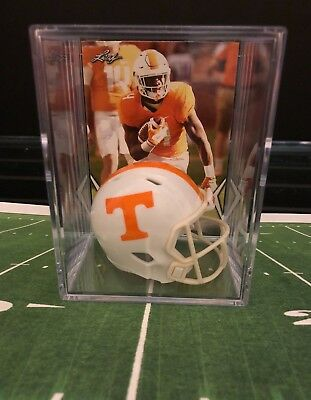 ddf21d97424 TENNESSEE VOLUNTEERS SMOKEY Grey NCAA Helmet Shadowbox w/ Alvin ...