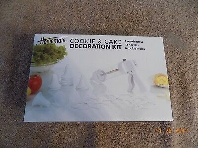 NEW Homemate COOKIE & CAKE DECORATION KIT [ FREE SHIP ]