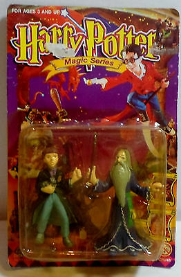 Harry Potter Magic Series Dumbledore & Ron Double Figure Set Mosc Sealed Rare