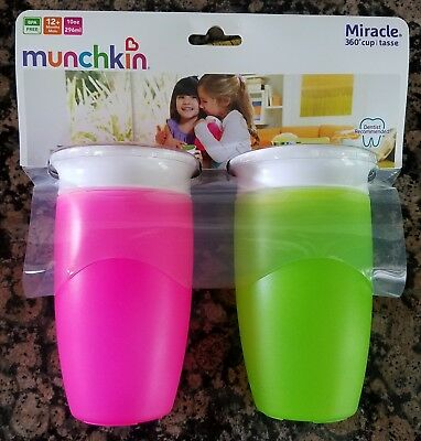 Munchkin Miracle 360° Cup- Dentists Recommended- Assorted Colors