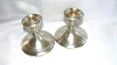Sterling Silver  925 - Antique Classic Gorham Pair  Candles Holders - Early 1900