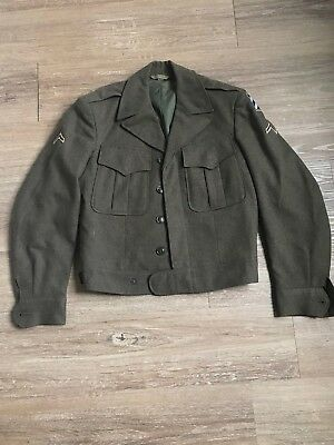 Rare VTG 1940s Cohen Fein Co Military Lieutenant Field Jacket WW2 100% wool