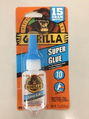 GORILLA GLUE 7805002 Super Glue Instant Bonding 15g Bottle - Brand New Sealed