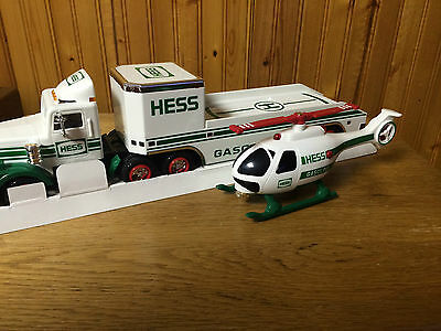 Hess 1995 Toy Truck And Helicoptor
