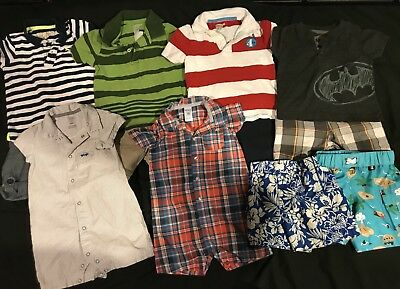 Baby Boy 18 Months Clothes Summer Lot. Rompers Swimming Outfits. *FREE SHIPPING*