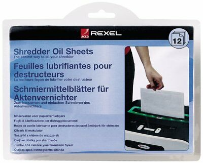 Rexel Shredder Oil Sheets Maintains Paper Shredder Blades Rexel 2101948 12 Sheet