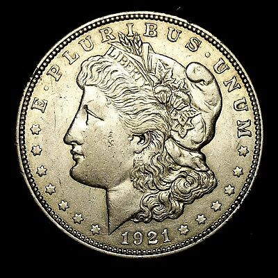 1921 D ~**ABOUT UNCIRCULATED AU**~ Silver Morgan Dollar Rare US Old Coin! #638
