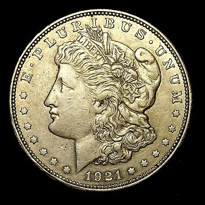 1921 D ~**ABOUT UNCIRCULATED AU**~ Silver Morgan Dollar Rare US Old Coin! #640