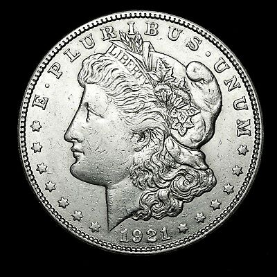 1921 S ~**ABOUT UNCIRCULATED AU**~ Silver Morgan Dollar Rare US Old Coin! #15