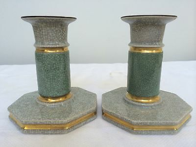 Royal Copenhagen Denmark Craquele Candle Holders 1930