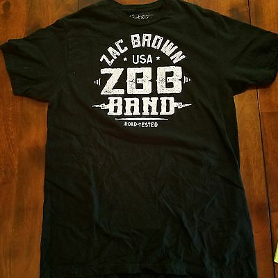 """Men's Zac Brown Band Official """"Road Tested"""" Southern Ground Shirt Black  M 2014"""