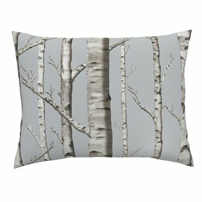 Whitestone Birch Birch Forest Trees Rustic Modern Pillow Sham by Roostery