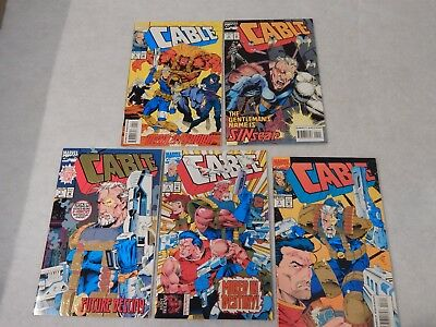 Cable #1-5 Lot Marvel Modern Age Comic Book Lot VF/NM High Grade