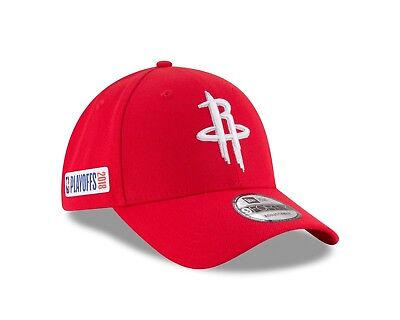 premium selection 9cac2 dc805 Houston Rockets New Era 2018 NBA Playoffs 9Forty Adjustable Hat - Red