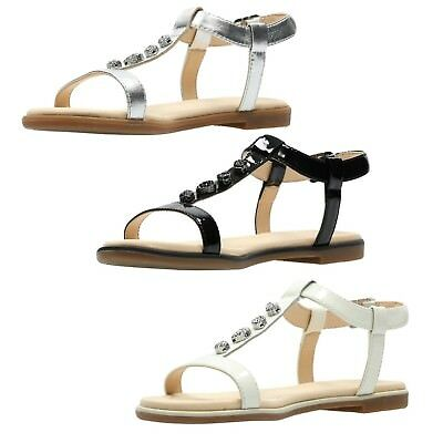 3f8cb0461b0e CLARKS Bay Blossom Ladies Leather Flat Sandal