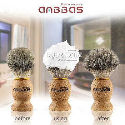 Anbbas Barber Hair Bear Shaving Brush Best Badger Hair Wooden Handle Men's Gift