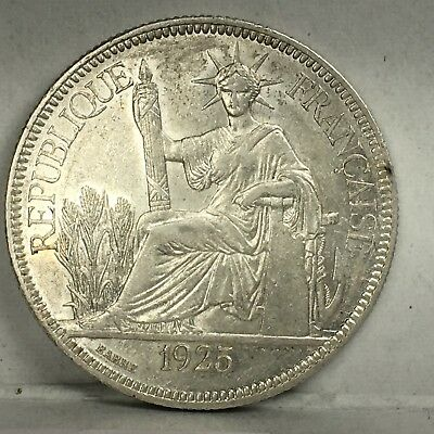 French Indochina 1 Piastre 1925 (weight 27.01g)
