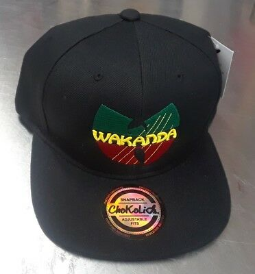 BLACK PANTHER WAKANDA King Snap Back Black Hat -  14.99  5e2deb8aff2