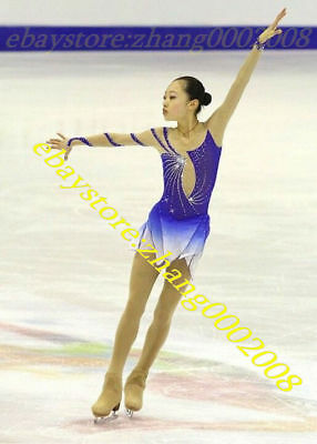 Lovely Ice skating dress.Blue Competition Figure Skating.Baton Dance Costume