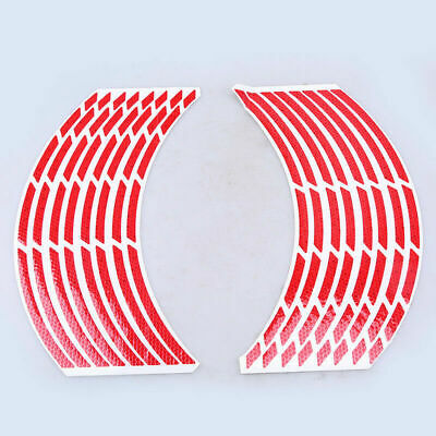 "16 Strips Reflective Motorcycle Car 17""-19"" Wheel Rim Stripe Decal Tape Stickers"