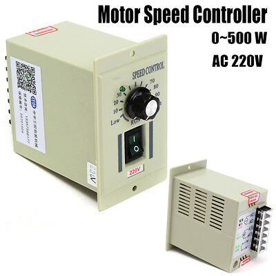 AC 220V 50HZ Knob Motor Speed Variable Control Controller For DC 0-500W Motor