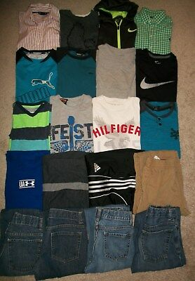Lot Of 20 Boys Size 10 12 Winter Spring Namebrand Old Navy Nike Zoo York Guc!