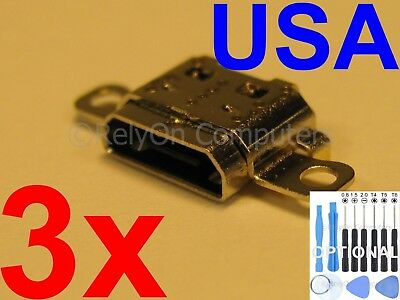 3x Micro USB Charging Port Sync For Amazon Kindle Fire 7 SR043KL 2017 7th Tablet
