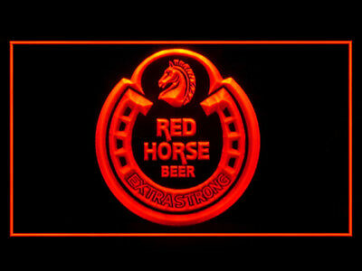 P697R Red Horse Beer For Pub Bar Display Light Sign