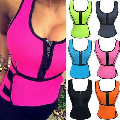Plus Size Women Sauna Sweat Waist Trainer Vest Shaper Fashion GYM Slimming Belt